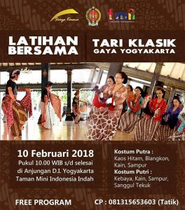 Joged Mataraman Latihan Tari Klasik Gaya Yogyakarta